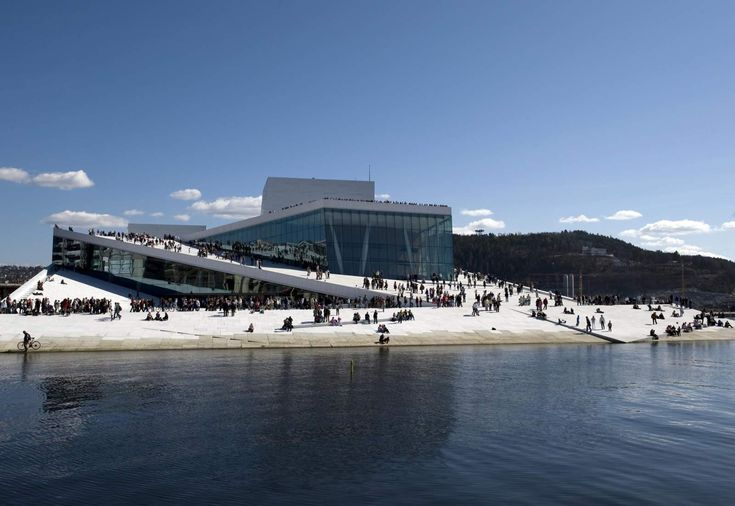 Oslo Opera House - walk on the roof for views of the city