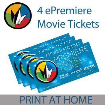 Regal Entertainment Group ePremiere 4-Pack Movie eTickets