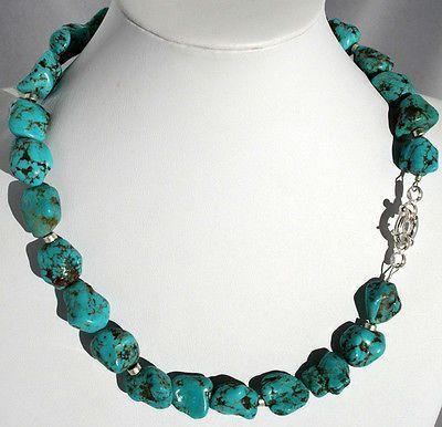 Collana di Turchese naturale-T�rkiskette natur, Turquoise neclace cod.k014