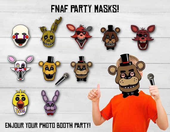 Five Nights at Freddy's masks FNAF masks Five by SuperInstantParty
