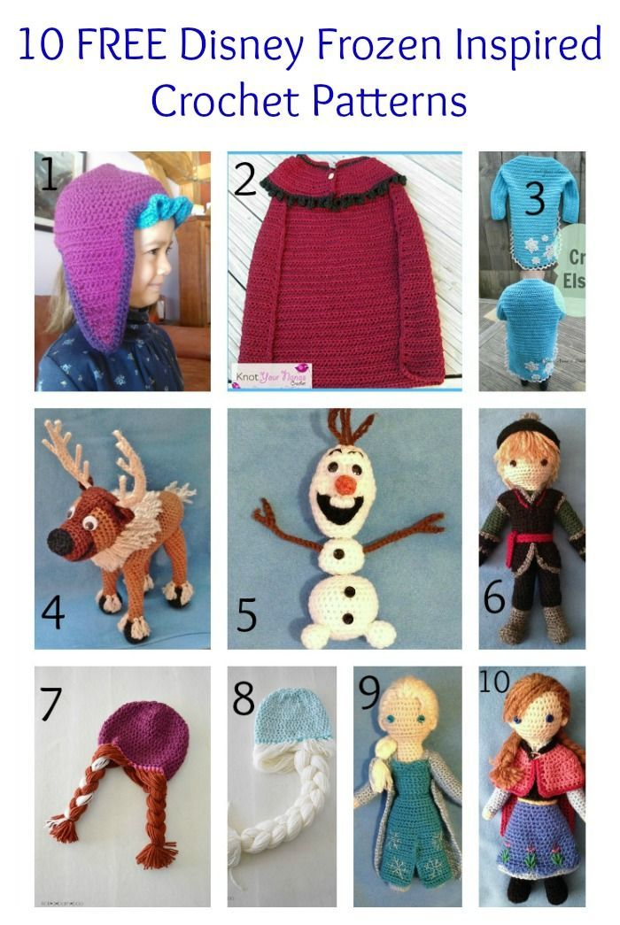 10 FREE Disney Frozen Inspired Crochet Patterns   The Steady Hand. I wish I had the crochet skills! Check out the Elsa/Anna hats! @alainademers