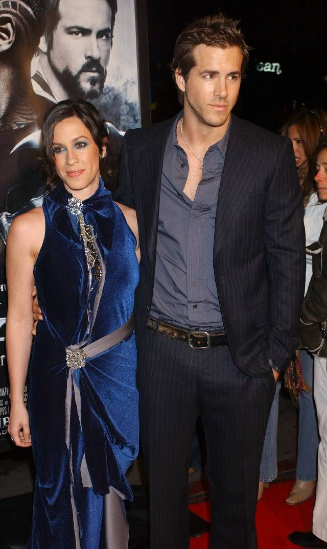 Alanis Morissette and Ryan Reynolds during