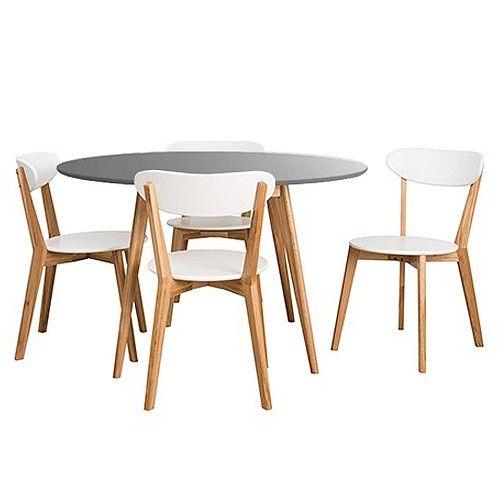 Graphite Grey & White round table