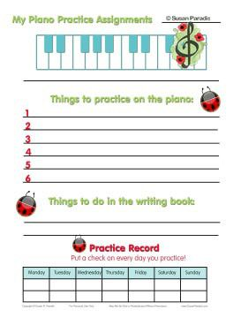 Here is an assignment sheet just for the little ones!