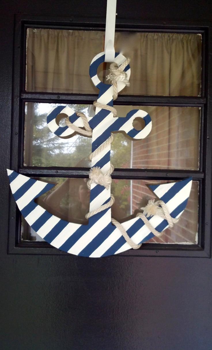 Shabby Chic Nautical Decor: Shabby Chic, Nautical Anchor Door Decoration