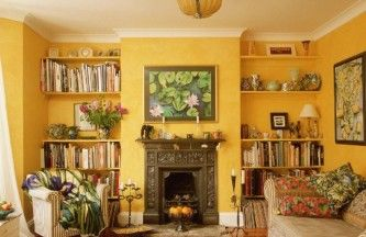 Living Room Designs Ideas Catchy Yellow Living Room Wall Color Combined With…