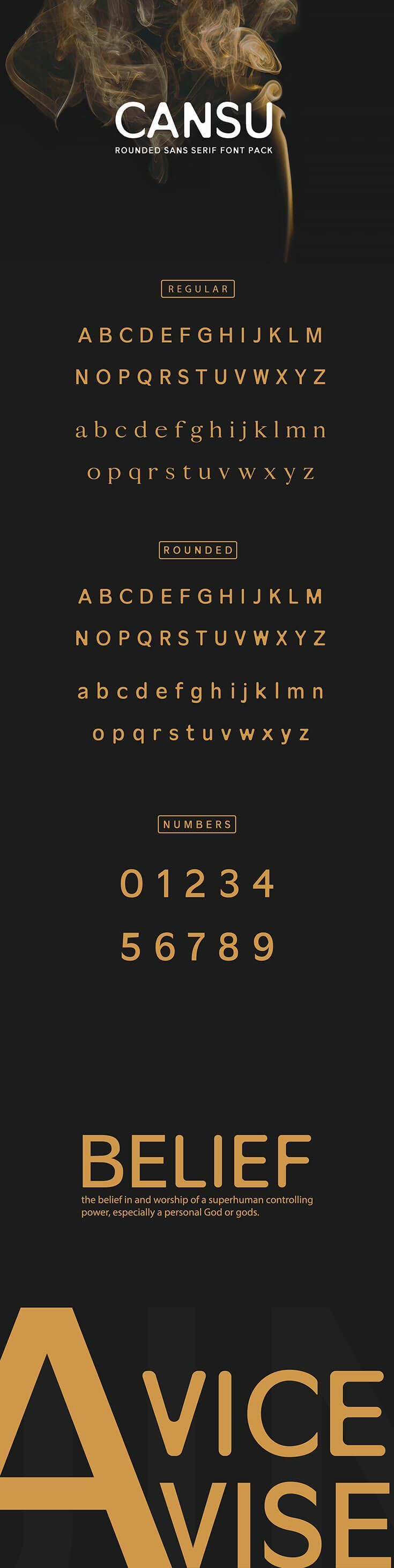 Download Free Cansu Sans Serif Font Pack is a classy minimal ...