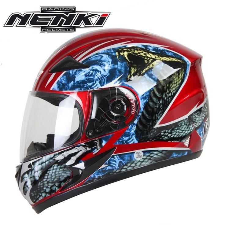 (60.00$)  Watch here  - NENKI Full Face Motorcycle Helmet Capacete da Motocicleta Cascos Moto Casque Kask 816H Racing Riding Men Women Helmet Snake