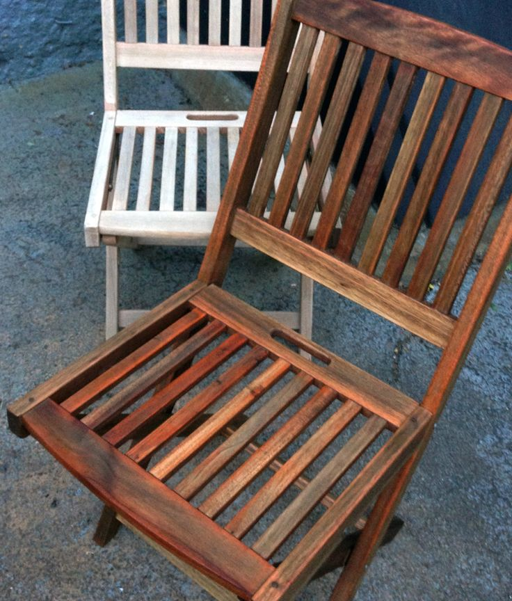 RaeChild DIY {teak Outdoor Furniture Refinishing: Before And After}