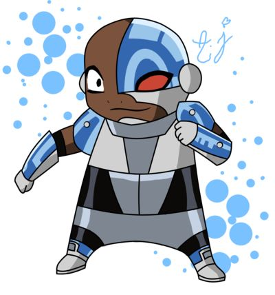 Chibi Cyborg one of the teen titans