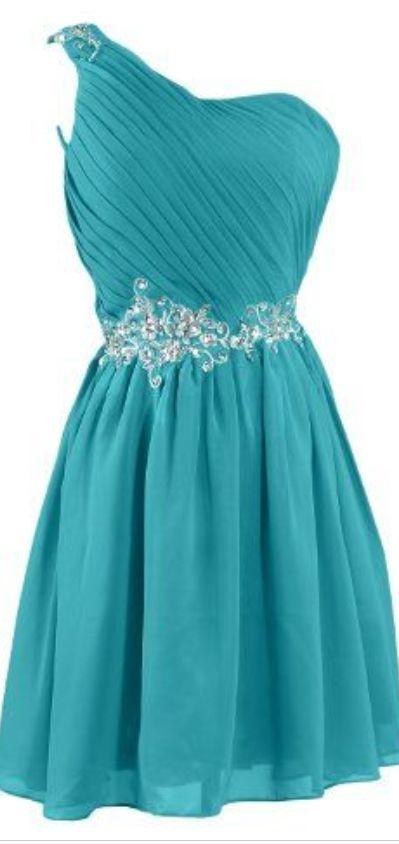 #blue #chiffon #short #shortpromdress #homecomingdress #cocktaildresses…