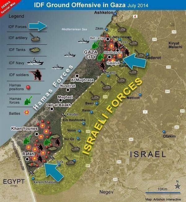 93 best sadness to my heart images on pinterest palestine muslim debka map of the current idf ground offensive posted on by eliyokim cohen gumiabroncs Images