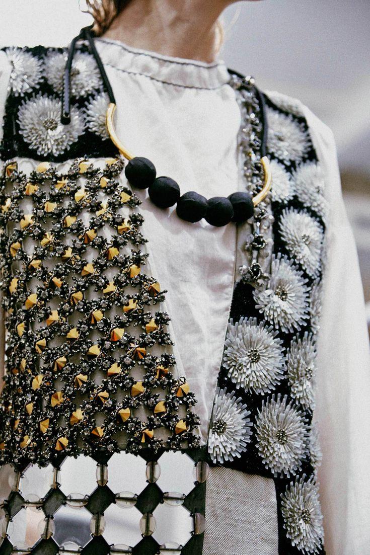 Fabric manipulation and textile design - Marni SS15 #MFW | surface details via i-D magazine