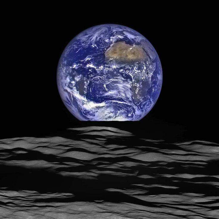 Resultado de imagem para A incrível foto da Lua passando em frente à Terra fotos