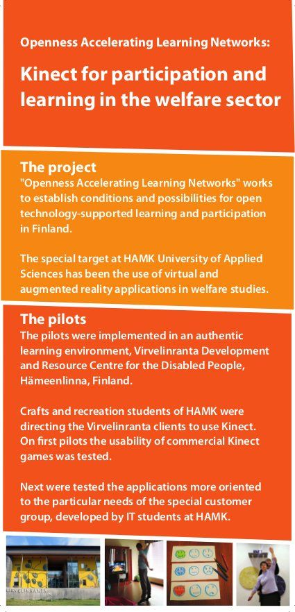 Kinect for participation and learning in the welfare sector  @HAMK University of Applied Sciences #avohanke #kinect #hamk