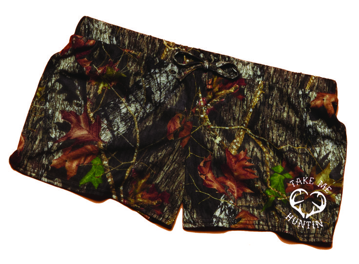 Southern Sisters Designs - Take Me Huntin Mossy Oak Soft Camouflage Shorts, $19.95 (http://www.southernsistersdesigns.com/take-me-huntin-mossy-oak-soft-camouflage-shorts/)
