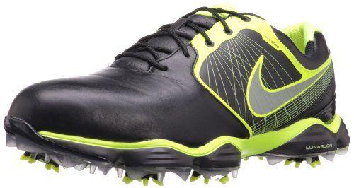 Nike Golf Men's Nike Lunar Control II Golf Shoe,Black/Volt/Reflect Silver,7 M US