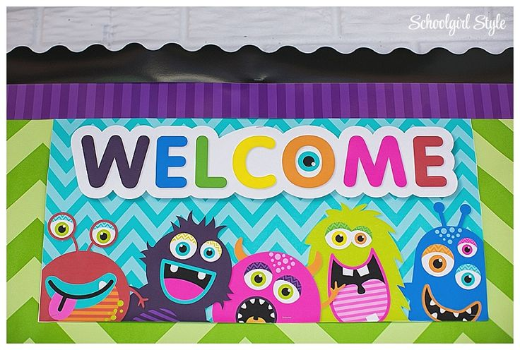 Monster theme by Schoolgirl Style, classroom theme, monster classroom decor, school, bulletin boards www.schoolgirlstyle.com