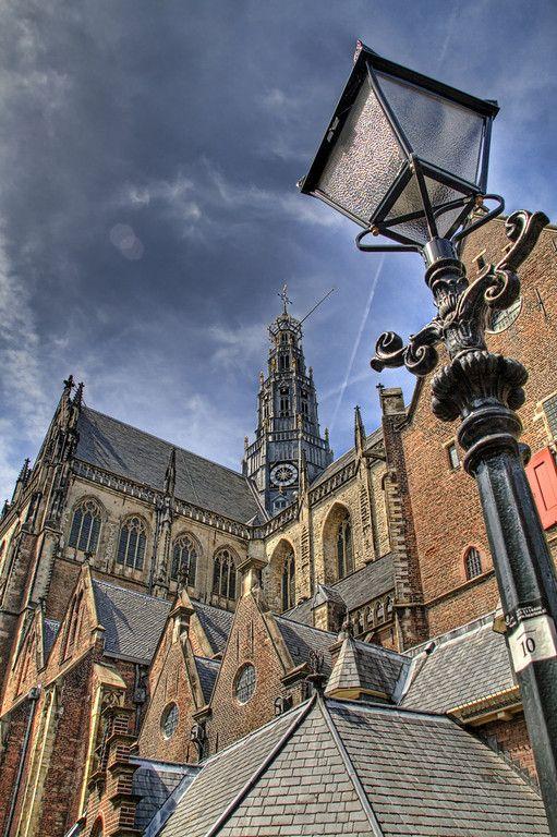 una iglesia en Harlem, Ámsterdam, Países Bajos