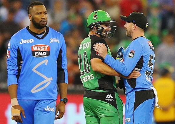 #Ben #Hilfenhaus' unbeaten 32 off 24 balls helped #Melbourne #Stars a two-wicket win against #Adelaide #Strikers with three balls to spare. Pick your 11 and win daily cash prizes @ https://www.draftindia.in