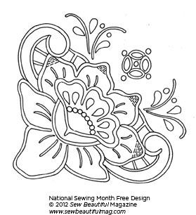 Vintage Floral Embroidery Design