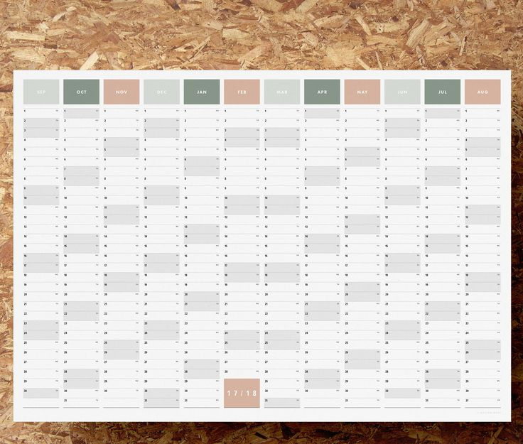 12 month wall planner