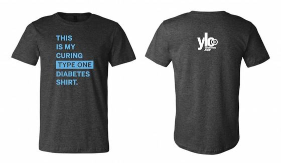 This is My Curing Type One Diabetes Shirt benefitting JDRF and research for a cure for T1D