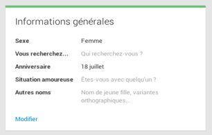 Votre date de naissance et Google+ - Aide Google+