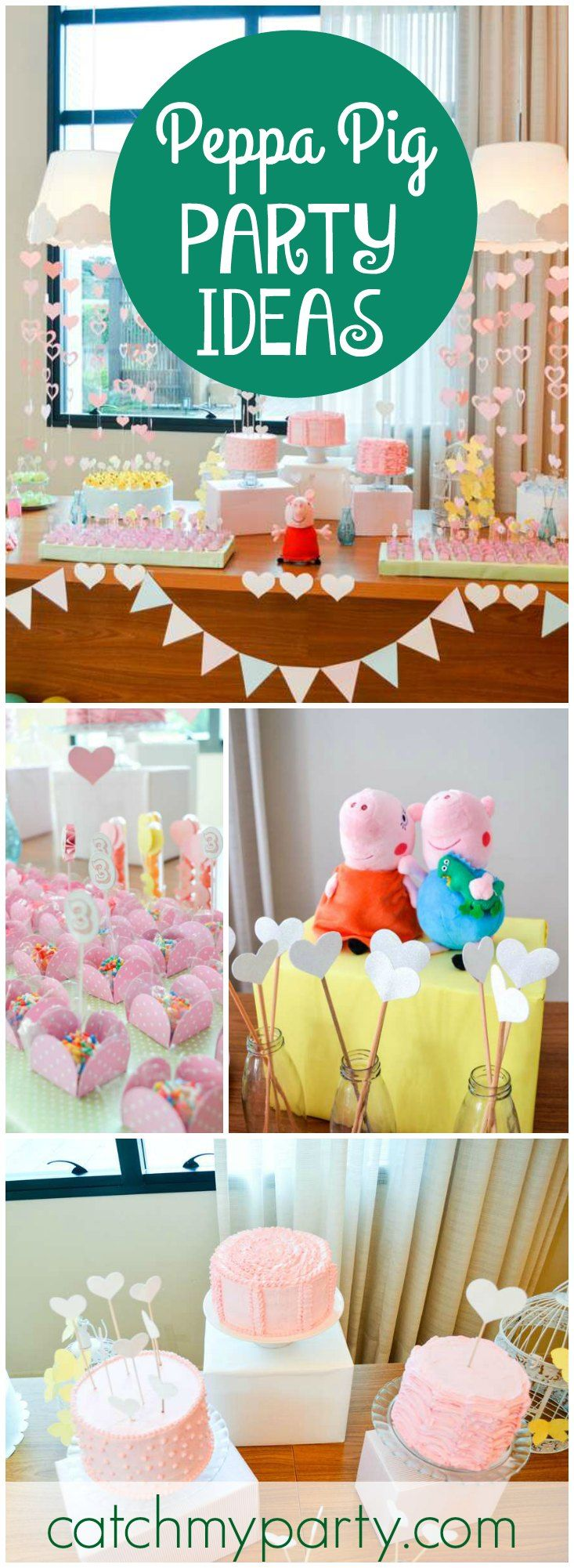 How Fun Is This Peppa Pig Themed Birthday Party See More Ideas At