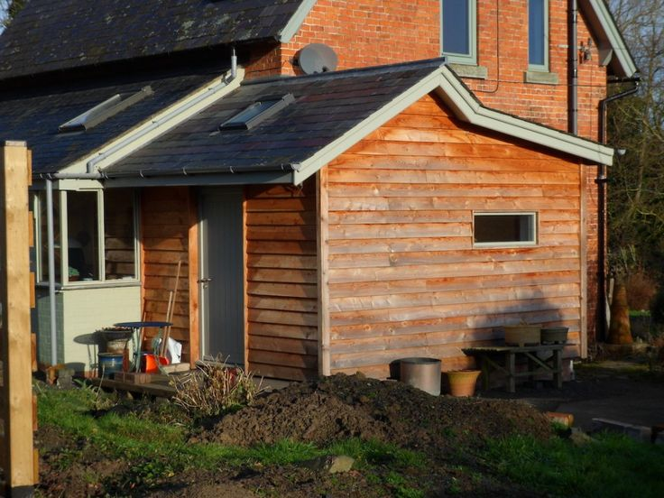 timber clad extension single storey - Google Search