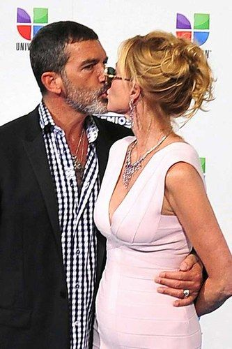Antonio Banderas and Melanie Griffith - International Kissing Day 2013: Celebrities lock lips
