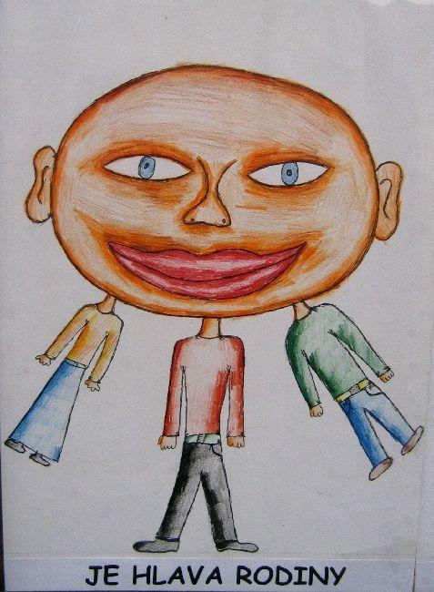ILUSTRACE FRAZEOLOGISMŮ, 2005, Je hlava rodiny