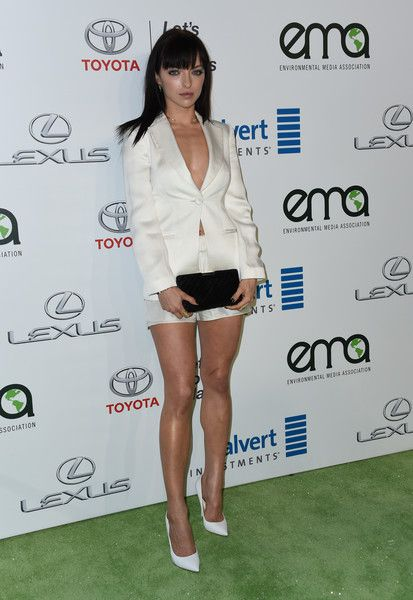 Francesca Eastwood Quilted Clutch - A quilted black clutch tied Francesca Eastwood's look together.