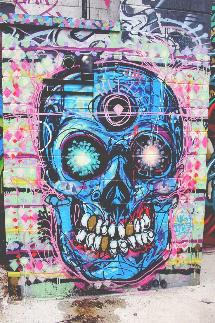Street Art Pastel Skull Graffiti Skulls Pinterest