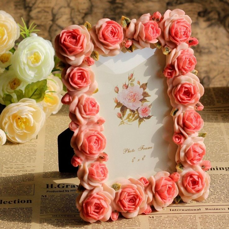 Розы из фоамирана для рамки с фото