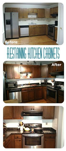 diy restain kitchen cabinets 17 best ideas about stained kitchen cabinets on 6886