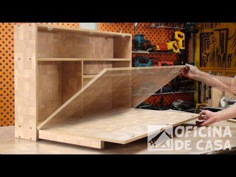 Mesa dobrável com estante | Oficina de Casa                                                                                                                                                     Mais