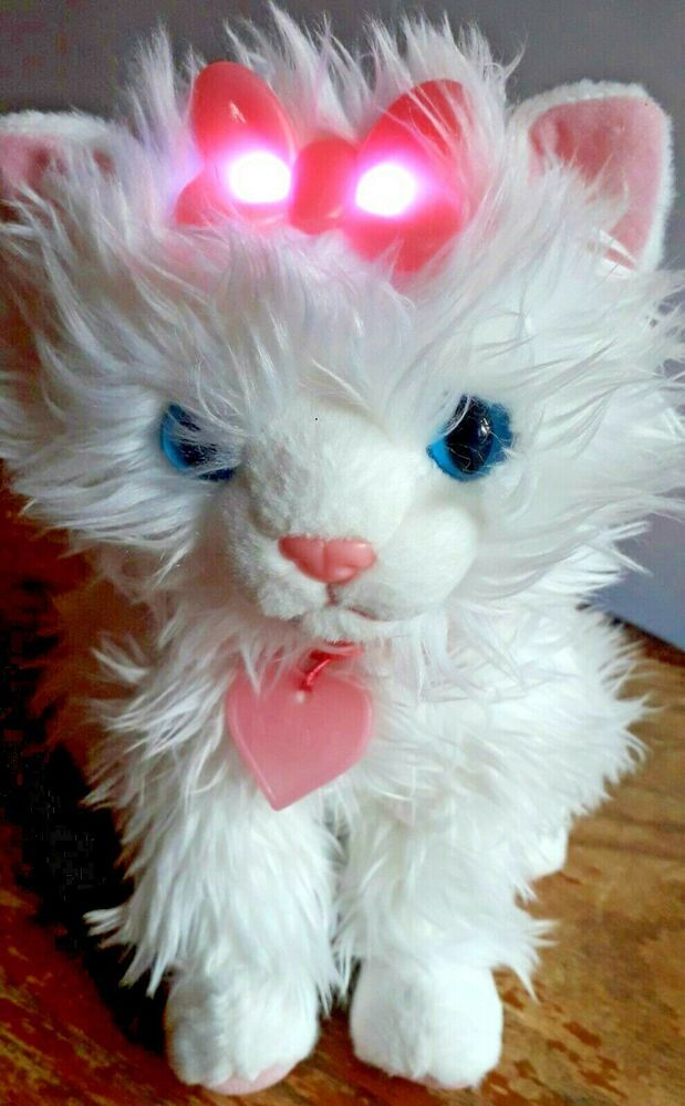 Animagic Sparkle The Cat Meowing Kitten Soft Toy 10 Light Up
