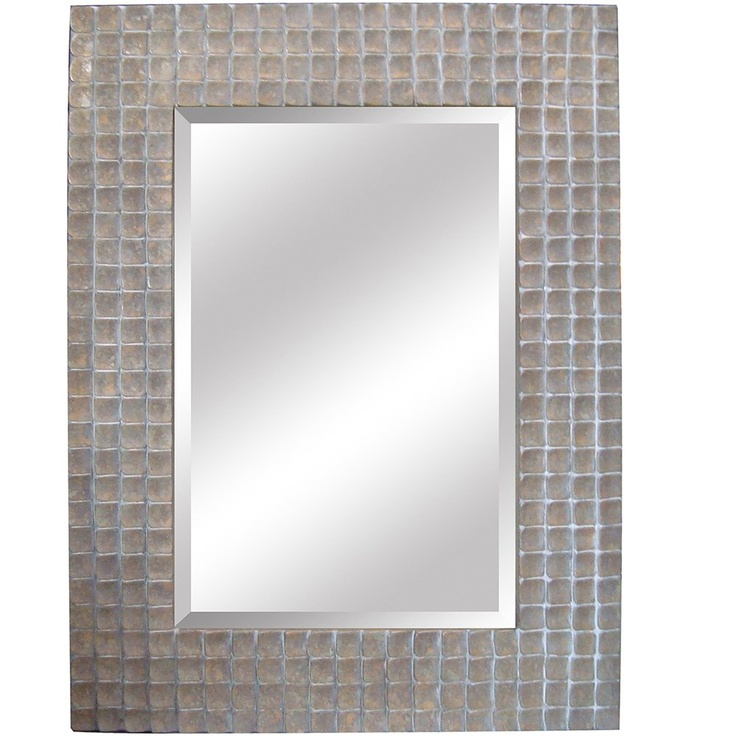 Yosemite Home Decor YM120S Silver Framed Bathroom Mirror