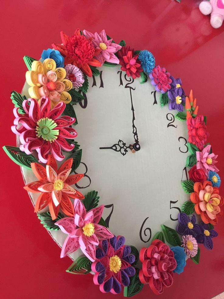 Reloj de quilling 105 best quilling clock