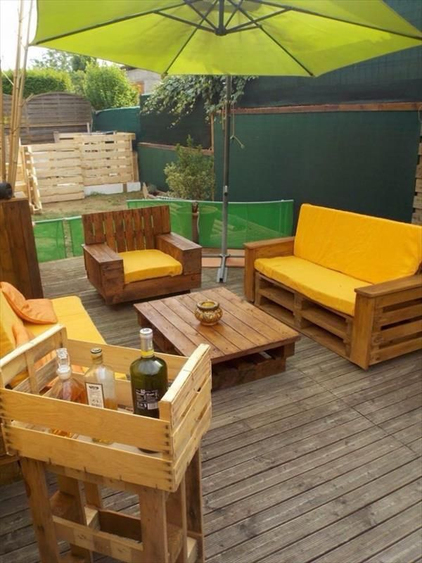 DIY Recycled Wooden Pallet Deck and Furniture | Recycled Pallet Ideas