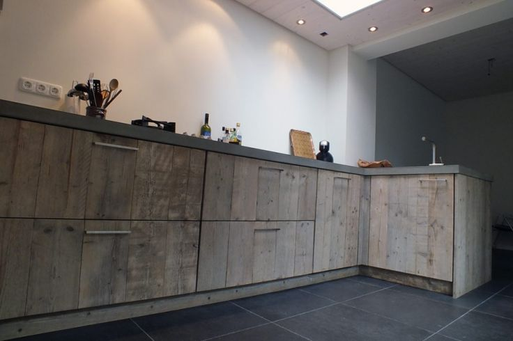 Keuken Steigerhout: Module Gootsteenblok Met Lade