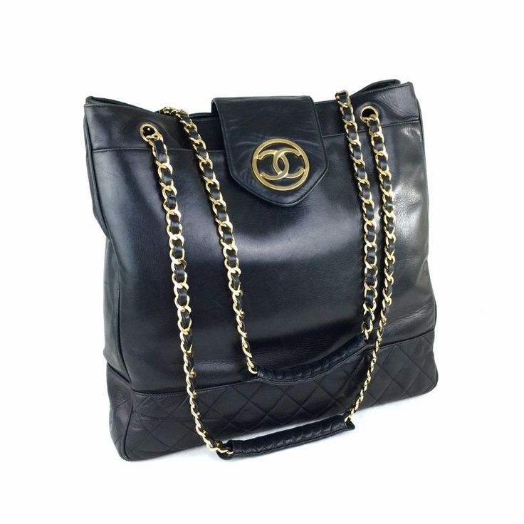 CHANEL Black XL Shoulder Tote