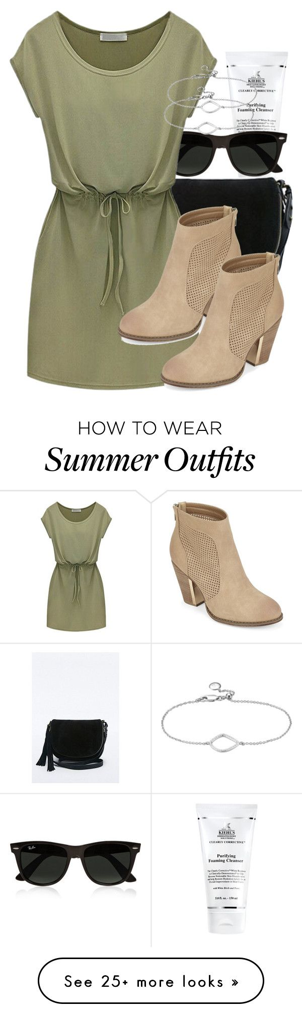 Kol inspired summer job outfit by tvdstyleblog on Polyvore featuring Kiehls, Ray-Ban, Call it SPRING and Monica Vinader