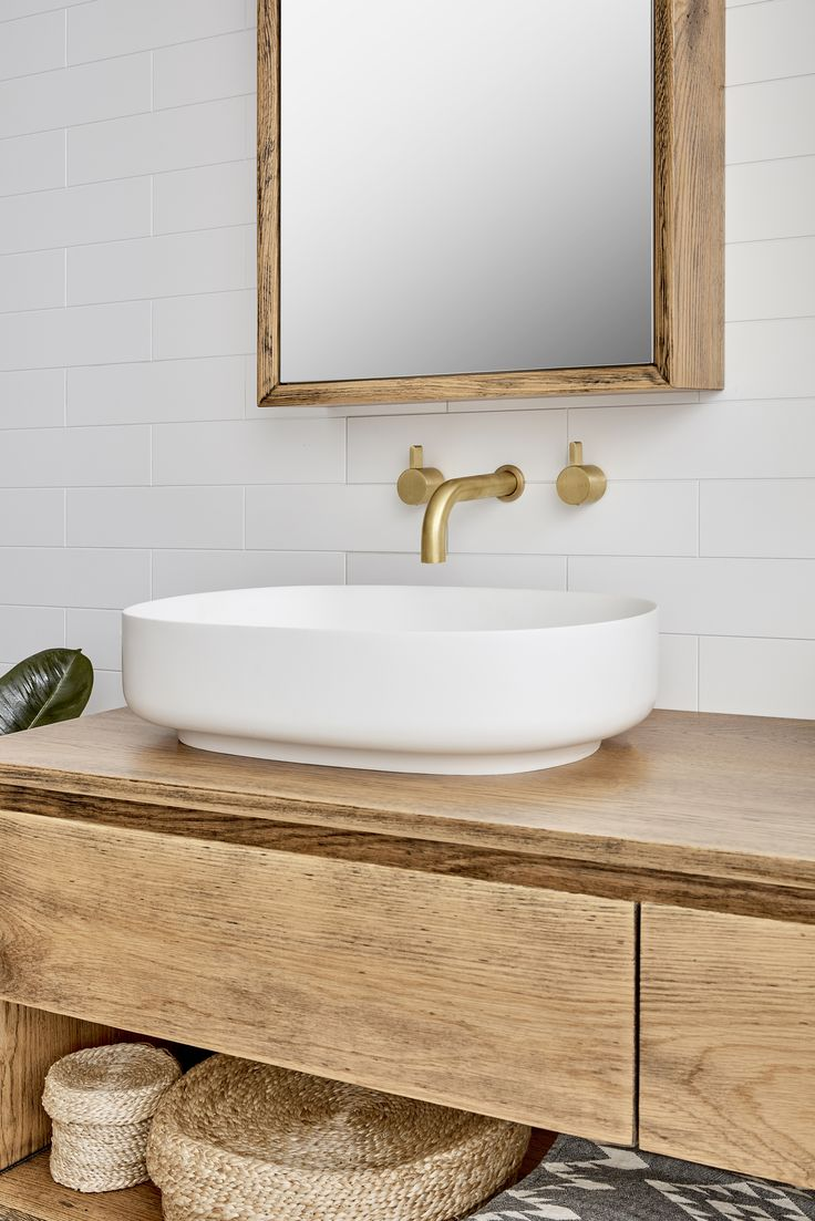 The Baxter Timber Vanity by Loughlin Furniture.