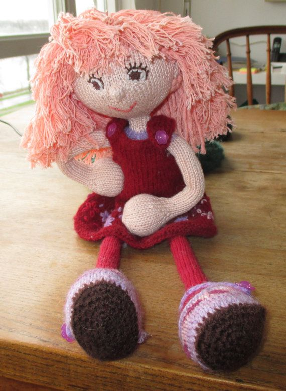 Handmade knitted dress up doll knitted rag doll by MadebyEffo
