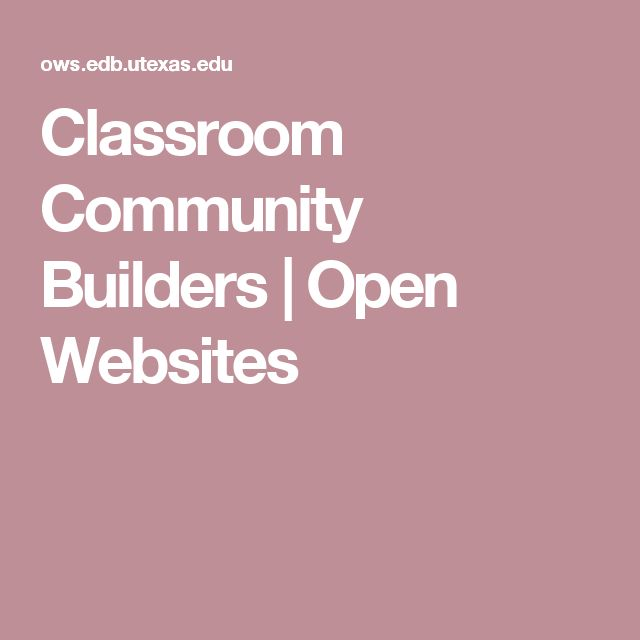 Classroom Community Builders   Open Websites  Great sources to expand diversity in a classroom.