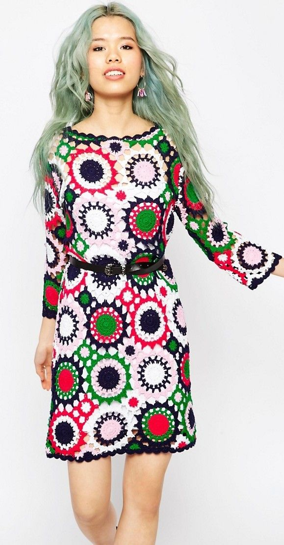 flowers crochet dress - ASOS