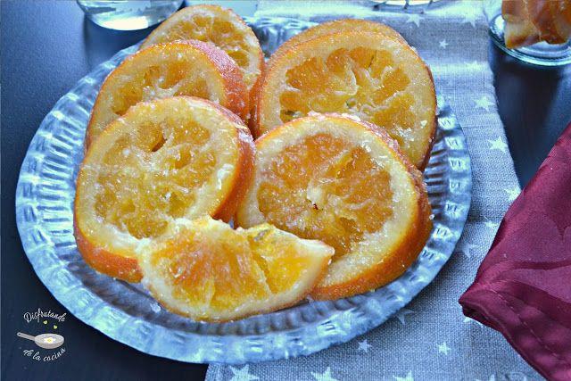 Deliciosa receta de Naranjas o fruta escarchada de Disfrutando de la Cocina