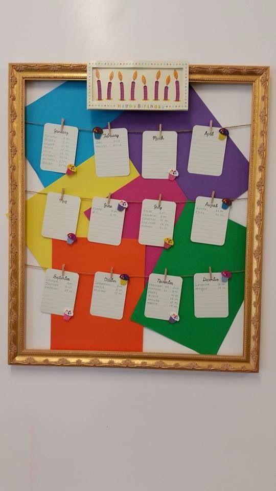 Innovative Birthday Charts For Classroom ~ Best birthday display board ideas on pinterest
